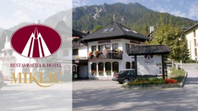 restaurant and hotel miklič kranjska gora banner with logo