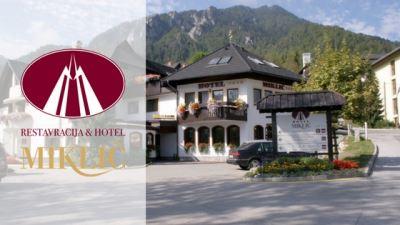 restaurant and hotel miklič kranjska gora banner with logo