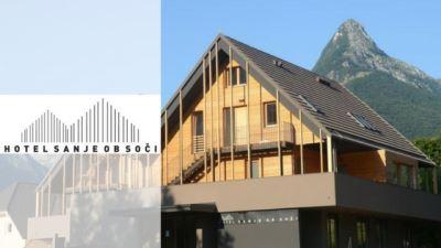 apartments and hotel sanje ob soči bovec banner with logo