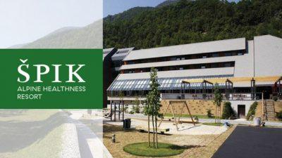 hotel špik kranjska gora slovenia banner with logo