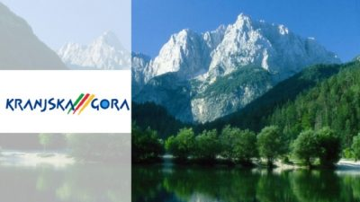 tourist info center kranjska gora banner and logo