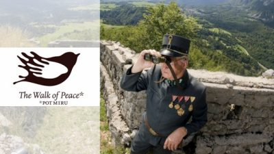 the walks of peace soča valley banner with logo