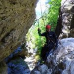 rappelling in fraterca canyon